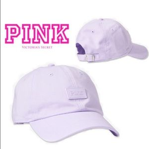 💕VS PINK LILAC LOGO BASEBALL HAT